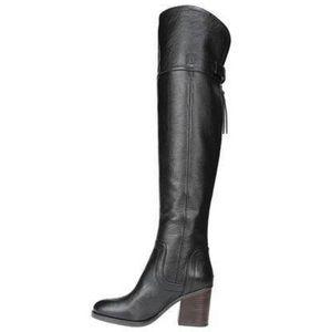Like New! Franco Sarto Ollie Black Leather Boots